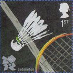Olympic and Paralympic Games 2012 1st Stamp (2009) Badminton