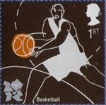 Olympic and Paralympic Games 2012 1st Stamp (2009) Basketball