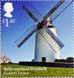 Windmills and Watermills £1.40 Stamp (2017) Ballycopeland Windmill, Country Down