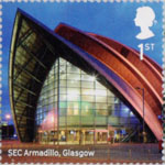 Landmark Buildings 1st Stamp (2017) SEC Armadillo, Glasgow