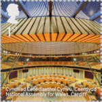Landmark Buildings 1st Stamp (2017) National Assembly for Wales, Cardiff