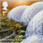 Landmark Buildings 1st Stamp (2017) Eden Project, St. Austell