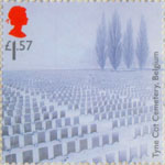 First World War 1917 £1.57 Stamp (2017) Tyne Cot Cemetery, Belguim