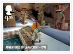 Video Games £1.55 Stamp (2020) Adventures of Lara Croft - 1998