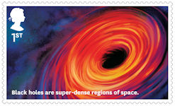 Visions of the Universe 1st Stamp (2020) Black Holes