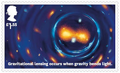 Visions of the Universe £1.55 Stamp (2020) Gravitational lensing