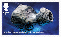 Visions of the Universe £1.60 Stamp (2020) Comet