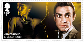 James Bond £1.60 Stamp (2020) Goldfinger (1964)
