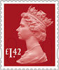 Machin Definitive 2020 £1.42 Stamp (2020) Garnet Red