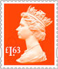 Machin Definitive 2020 £1.63 Stamp (2020) Sunset Red