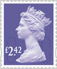 Machin Definitive 2020 £2.42 Stamp (2020) Purple Heather