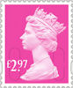 Machin Definitive 2020 £2.97 Stamp (2020) Rose Pink
