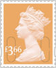 Machin Definitive 2020 £3.66 Stamp (2020) Harvest Gold