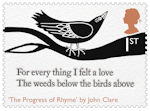 The Romantic Poets 1st Stamp (2020) The Progress of Rhyme by John Clare