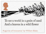 The Romantic Poets 1st Stamp (2020) Auguries of Innocence by William Blake