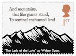 The Romantic Poets 1st Stamp (2020) The Lady of the Lake by Walter Scott