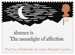 The Romantic Poets 1st Stamp (2020) The Fate of Adelaide by Letitia Elizabeth Landon