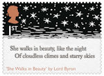 The Romantic Poets 1st Stamp (2020) She Walks in Beauty by Lord Byron