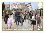 End of the Second World War 2nd Stamp (2020) Servicemen welcomed home, 1945