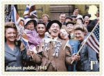 End of the Second World War 1st Stamp (2020) Jubilant public, 1945