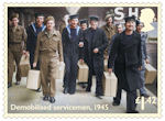End of the Second World War £1.42 Stamp (2020) Demobilised servicemen, 1945