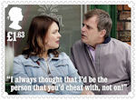 Coronation Street £1.63 Stamp (2020) Tracy Barlow and Steve McDonald