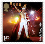 Queen 1st Stamp (2020) Magic Tour, 1986
