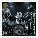 Queen 1st Stamp (2020) Hyde Park Concert, 1976