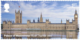 The Palace of Westminster 1st Stamp (2020) River Thames view