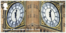 The Palace of Westminster 1st Stamp (2020) Elizabeth Tower