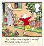 Rupert Bear £1.45 Stamp (2020) Rupert and the Lost Cuckoo