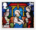 Christmas 2020 2nd Large Stamp (2020) St Andrew's Church, East Lexham, Norfolk.