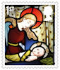 Christmas 2020 1st Stamp (2020) St Andrew's Church, Coln Rogers, Gloucestershire.