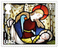 Christmas 2020 1st Large Stamp (2020) St Andrew's Church, Coln Rogers, Gloucestershire.