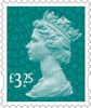 New Definitive Stamps 2021 £3.25 Stamp (2020) Aqua Green