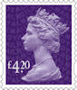 New Definitive Stamps 2021 £4.20 Stamp (2020) Plum Purple