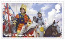 The Wars of the Roses 2nd Stamp (2021) Battle of Bosworth, 1485