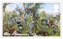 The Wars of the Roses 2nd Stamp (2021) Battle of Tewkesbury, 1471