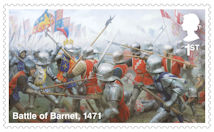 The Wars of the Roses 1st Stamp (2021) Battle of Barnet, 1471