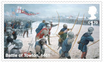 The Wars of the Roses £1.70 Stamp (2021) Battle of Towton, 1461