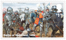 The Wars of the Roses £1.70 Stamp (2021) Battle of Wakefield, 1460